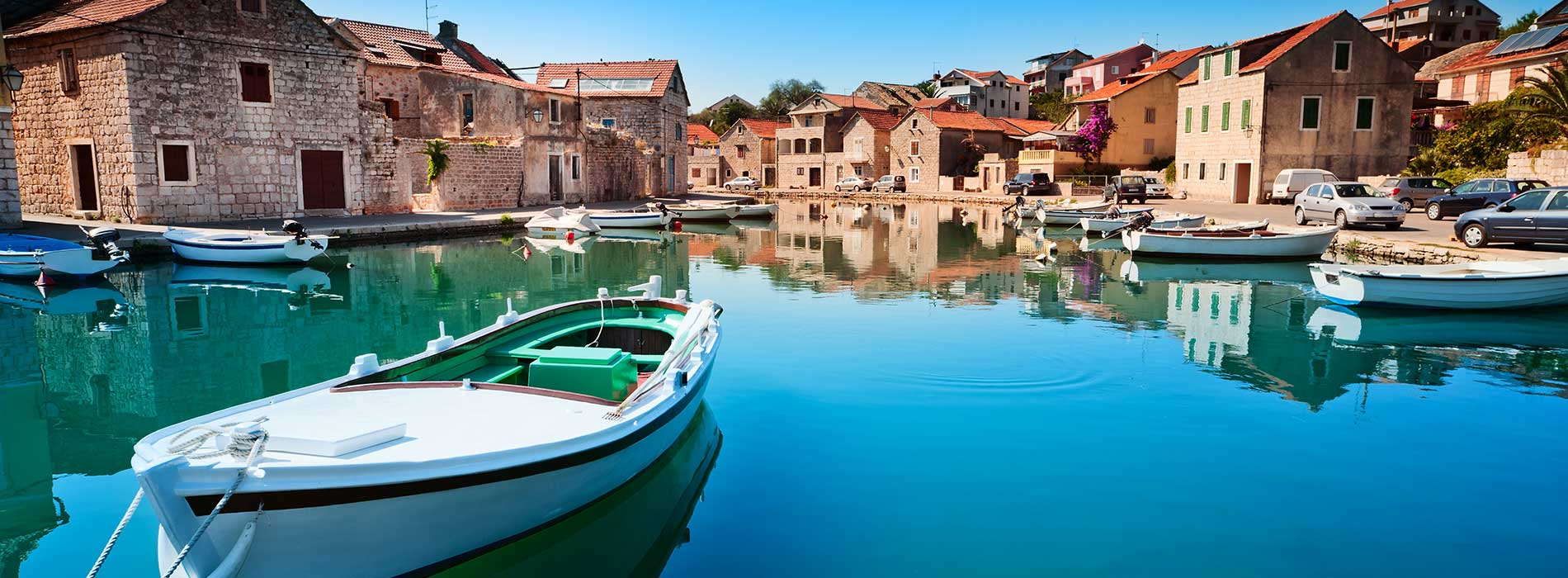 Old harbor at Adriatic sea. Hvar island.jpg